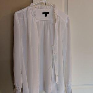 SOLD J. Crew White Silk Blouse